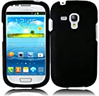 Samsung Galaxy S III mini i8190 ( AT&T ) Phone Case Accessory Charming Black Hard Snap On Cover with Free Gift Aplus Pouch