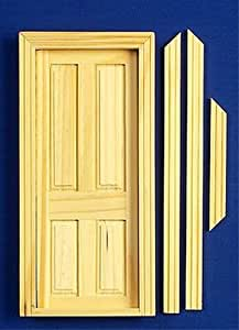 12th Scale Dolls House DIY - Dolls House Wooden - 4 Panel Door