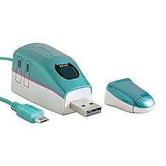 スマ鉄 鉄道車両型 USB AC 充電器/USBケーブル E5系 はやぶさ MicroUSBCable