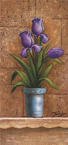'a Purple Flower' Oil Painting, 18x38 Inch / 46x97 Cm ,printed On Perfect Effect Canvas ,this High Resolution Art Decorative Prints On Canvas Is Perfectly Suitalbe For Gym Decoration And Home Decor And Gifts