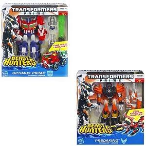 Transformers Prime Voyager Class Beast Hunter Optimus & Predaking Set