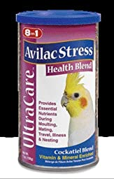 8 in 1 Pet Products Cockatiel Ultrablend Avilac Stress Diet 7oz