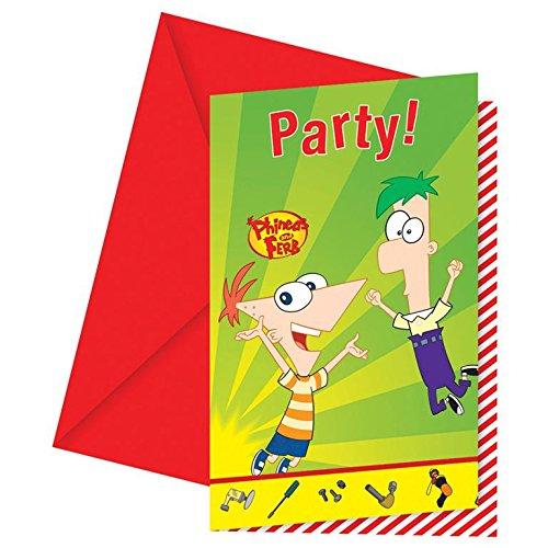Phineas und Ferb - 6 Einladungen hier kaufen