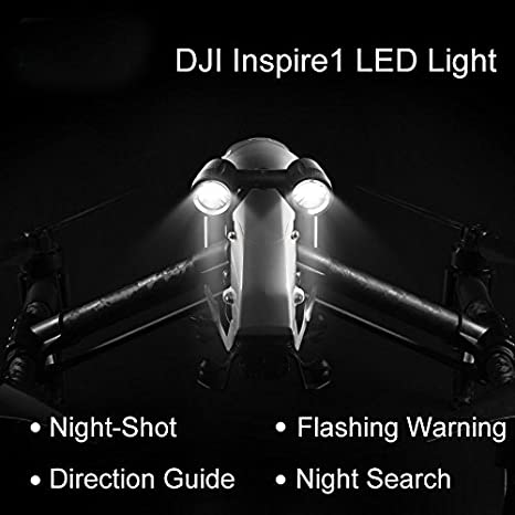 Haodasi Night Search Directive Guide Night-shot LED Light Headlamp Lampe frontale for DJI Inspire 1 Pro Raw Drone
