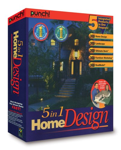 Home Design Software: Punch! 5 In 1 Home Design