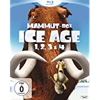 Ice Age 1, 2, 3 & 4 (Mammut-Box) (4 Blu-rays) [Blu-ray]