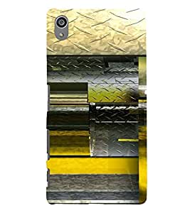 PrintVisa Modern Art Steel Design 3D Hard Polycarbonate Designer Back Case Cover for Sony Z5 Plus :: Z5 Premium