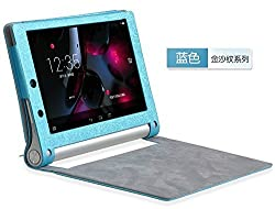 Best Deals - Premium High Quality Leather Flip Cover Case for Lenovo Yoga 2 Tablet 8 inch 830F 830L- Blue
