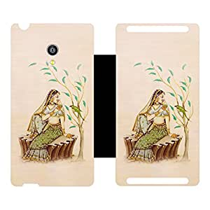 Phone Candy Designer Flip Cover with hi-res printed Vinyl sticker wrap-around for Micromax Canvas Fire 4G