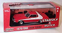 greenlight 2015 release starsky & hutch red / white ford gran torino 1976 car limited edition 1.43 scale diecast model