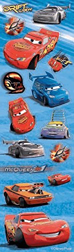 Disney's Cars Stickers 8 Strips of Stickers [Toy] [Toy] - 1