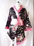 セクシーショーツ4点セット黒xピンクsexy コスプレ 着物 浴衣