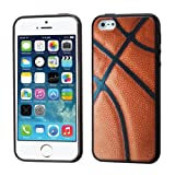 MyBat Basketball-Sports Collection/Gummy Cover for Apple iPhone 5S/5 - Retail Packaging - Black