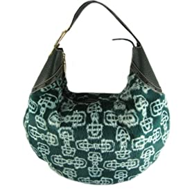 Gucci Handbags (Green) 145764 Horsebit Fur with Leather Trim Hobo Bag REDUCED!!