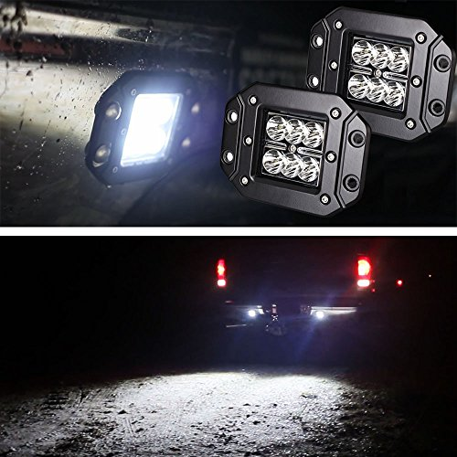 iJDMTOY (2) Dually Flush Mount 24W CREE LED Pod Lights For Truck Jeep Off-Road ATV 4WD 4x4, etc (Rear Bumper Lights compare prices)