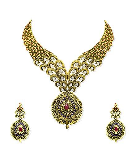 Zaveri Pearls Designer Necklace Set For Women - ZPFK66
