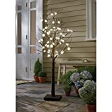 4ft LED Cherry Blossom Tree This Tree Is a Serene Decor Piece for Indoor Use or Outdoor Patio Furniture Sale This Artificial Plastic Tree with Lights Is Great for the Living Room As a Decoration for the Home. Makes Great Art for Decorating.