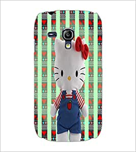 PrintDhaba Hello Kitty D-5780 Back Case Cover for SAMSUNG GALAXY S3 MINI (Multi-Coloured)