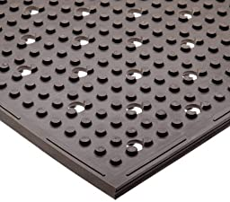 NoTrax T23 Standard Rubber Multi-Mat II Safety/Anti-Fatigue Mat, for Wet or Greasy Areas, 3\' Width x 2\' Length x 3/8\