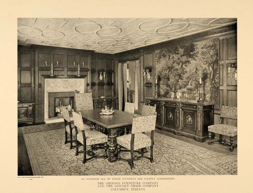Best Prices 1918 Print Orinoco Furniture Lincoln Chair Dining Room ...