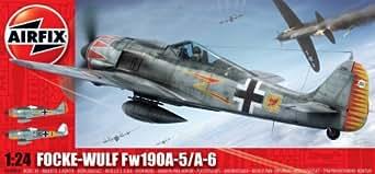 Airfix A16001 1:24 Scale Focke Wulf Fw-190A Military Aircraft Classic Kit Series 16