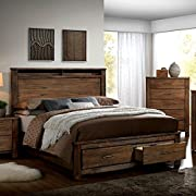 Elkton Oak Finish King Size 6-Piece Bedroom Set