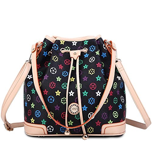 Fashion Pu Leather Clutch Cross-Body Shoulder Handbag 0320545 (Black)