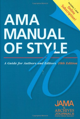 AMA Manual of Style: A Guide for Authors and Editors ...