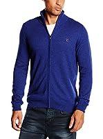 Trussardi Jeans Chaqueta Punto (Azul Eléctrico)