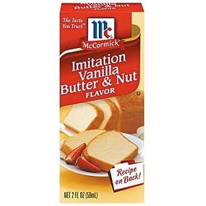 McCormick Imitation Vanilla Butter Nut Flavoring 2oz 6ct