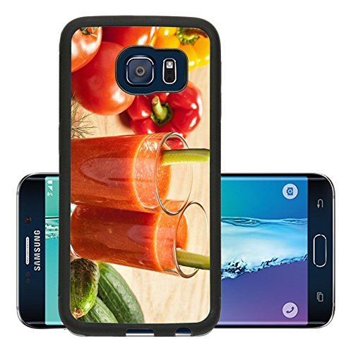 Liili Premium Samsung Galaxy S6 Edge Aluminum Snap Case Healthy drink vegetable juice studio shot IMAGE ID 17721936 (California Cool Dill compare prices)