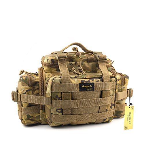 SHANGRI-LA Tactical Assault Gear Sling Pack Range Bag Hiking Fanny Pack Waist Bag Shoulder Backpack EDC Camera Bag MOLLE Modular Deployment Compact Utility Carry Bag Heavy Duty with Shoulder Strap (Range Bag Tactical Backpack compare prices)
