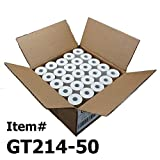 (50) Thermal Paper Rolls 2-1/4 X 50 Verifone Vx520 First Data FD400 Nurit 8000 8020 STP-103