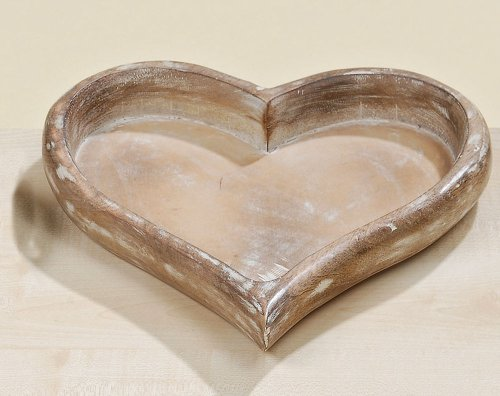 Deko-Tablett Herz aus Holz Breite