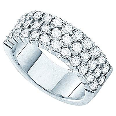 1.50 Carat (ctw) 14K White Gold Round White Diamond Ladies Machine Set Wedding Band 1 1/2 CT