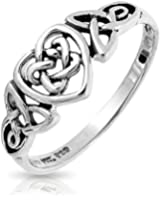 Bling Jewelry Sterling Silver Celtic Knotwork Heart Ring