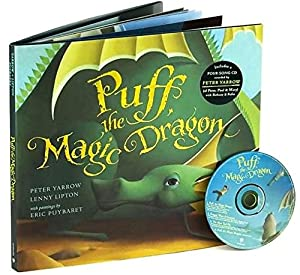 Puff, the Magic Dragon Hardcover Book with CD (4 songs) & Plush Toy Gift Set