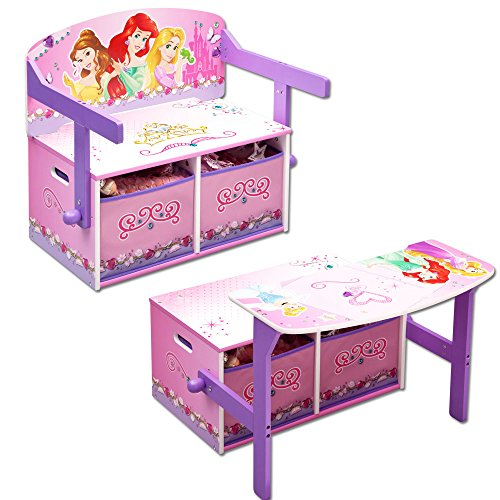 Disney – Kindersitzgruppe – Kindertisch – Kinderbank 3in1 mit Motivauswahl (Princess