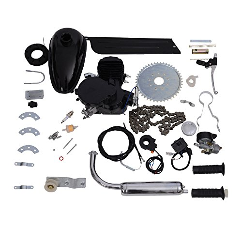 "Review Of Aosom 80cc 2 Stroke Gas Engine Motor Kit for 26"" or 28"" Bicycle - Black"