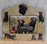 Black Lab Retriever Dog House Photo Frame 4x6 or 3x5 Pictures