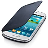 Etui Housse FLIP COVER Bleu pour Samsung Galaxy S3 III Mini + STYLET et 2 FILMS OFFERTS !!