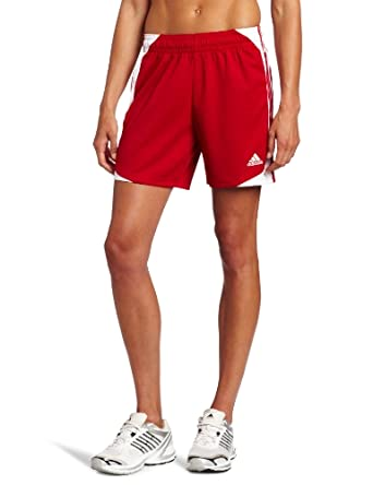 adidas Women's Nova 12 Short, University Red/White, X-Large
