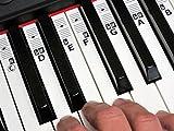 KEYNOTES Autocollant de Piano et Clavier - Stickers apprenez musique jouer éducation clé note étiquetage