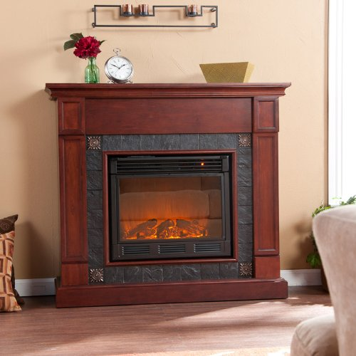 Lungarno Cherry Fireplace Electric photo B005SE8SC0.jpg