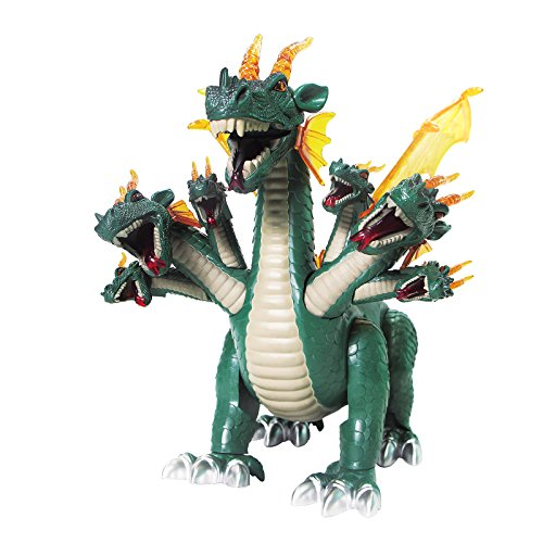 Mokasi Walking Seven Headed Dragon Toy Realistic Sounds and Fun Lights Action Figures (Green) (Seven Headed Dragon compare prices)