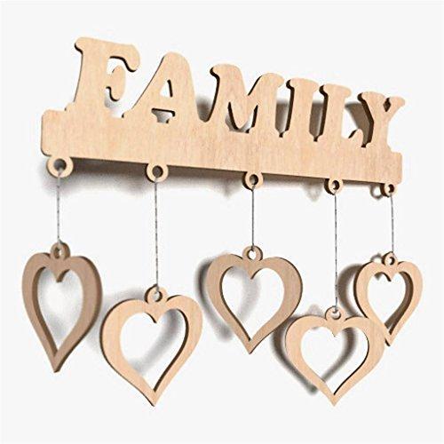 1x deko wortform family schild holz basteln bemalen. Black Bedroom Furniture Sets. Home Design Ideas