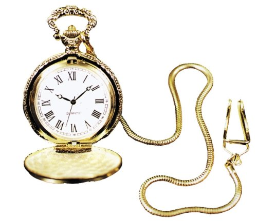 Pocket Watch With Chain, Gold