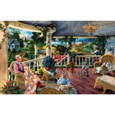 Picture of SunsOut Afternoon with Grandma 1000 Piece Jigsaw Puzzle (B004W9LC48) (Jigsaw Puzzles)