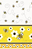 """Unique Bumble Bee Plastic Table Cover, 84 x 54"""", Yellow"""