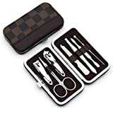 LOYAL EMPLE 7 In 1 Pedicure/Manicure Home Utility/Travel Accessories Kit Set - (Color May Vary)